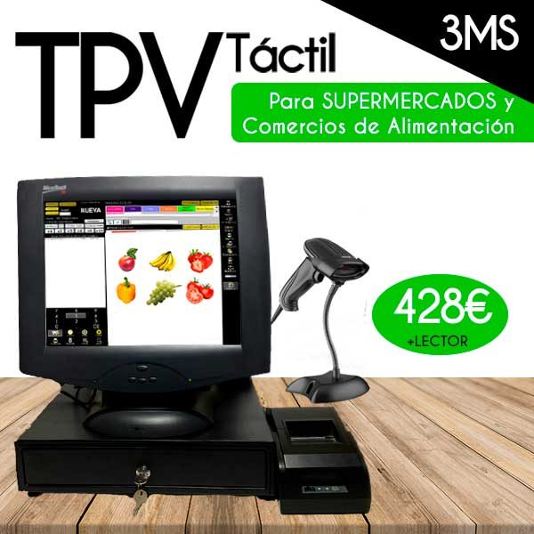 pack tpv dell y lector , pack tpv tactil dell y lector comericos