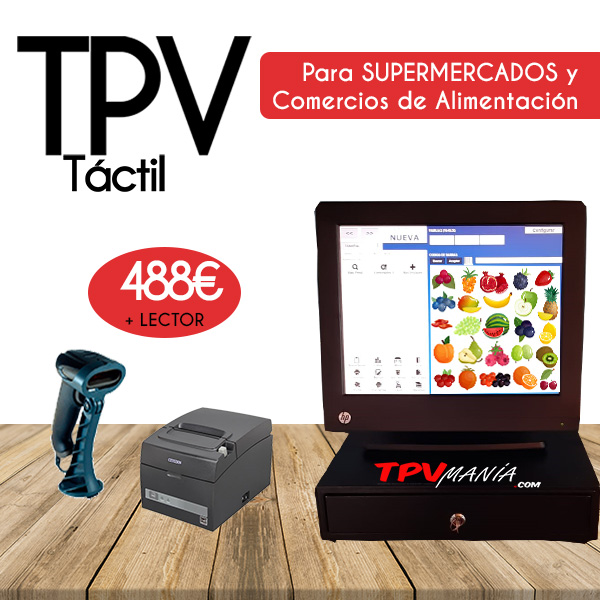 Tpv tactil HP 15 y lector